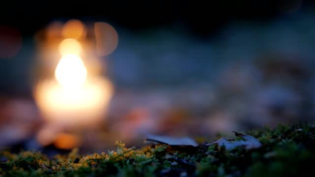 votive ljus på graven, grav ljus - ljus på grav bildbanksvideor och videomaterial från bakom kulisserna