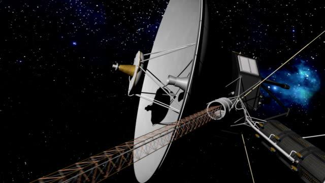sonda voyager miejsca. - badawczy statek kosmiczny filmów i materiałów b-roll