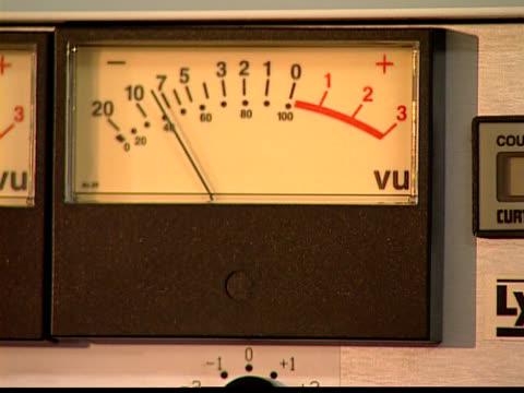 vu メータ - 文字記号点の映像素材/bロール