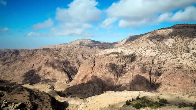 vidéos et rushes de wadi dana réserve de biosphère-jordanie - étendue sauvage scène non urbaine