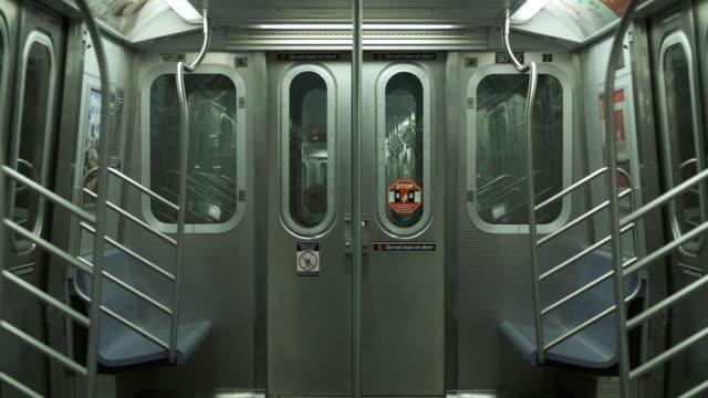 Wagon Of Train. Subway Of New York. View Of The Train Car. New York Metro. new york city subway stock videos & royalty-free footage