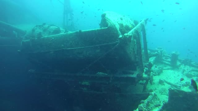 wagon on shipwreck