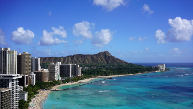 Waikiki Beach and Diamond Head, Hawaii video