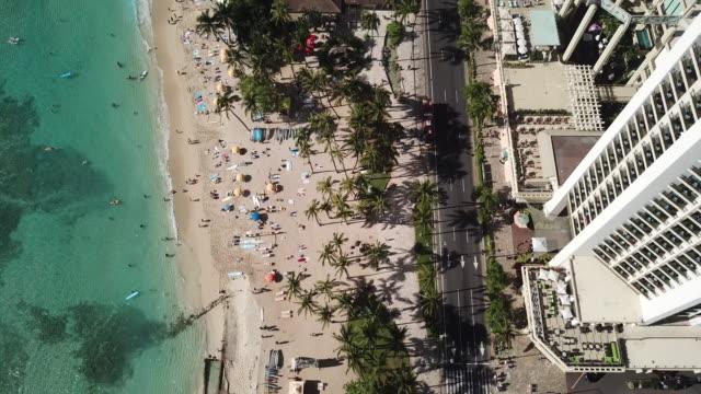 Waikiki Beach Birds Eye View
