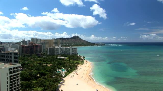 Waikiki Beach & Diamond Head, time lapse video