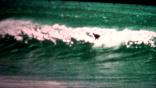 (8mm Vintage) 1955 Waikiki Beach Hawaii Longboard Surfing video