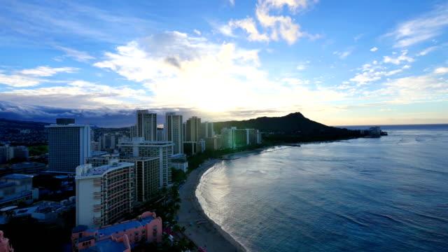 Waikiki Beach sunrise video