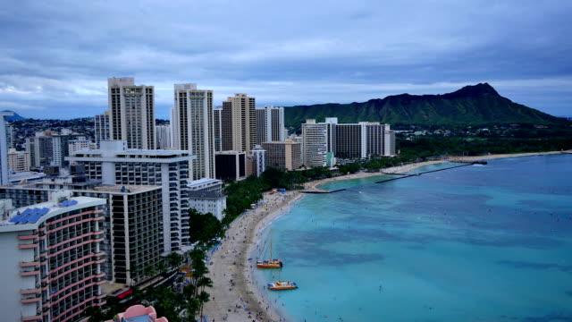 Waikiki Beach sunset video