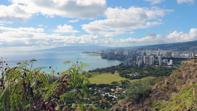 Waikiki Beach View From Diamond Head, Honolulu, Hawaii video