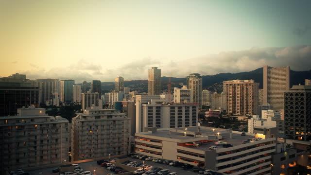 Waikiki, Hawaii Skyline Time-lapse video