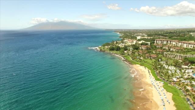 Wailea, Maui Drone Aerial shot video