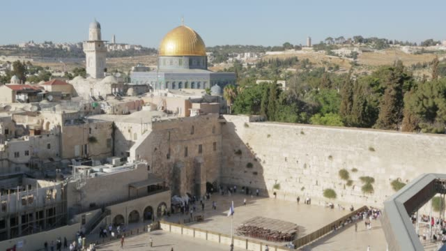 Wailing Wall and Dome of the Rock video