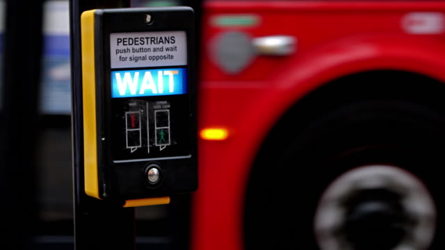 Wait sign for pedestrians in London