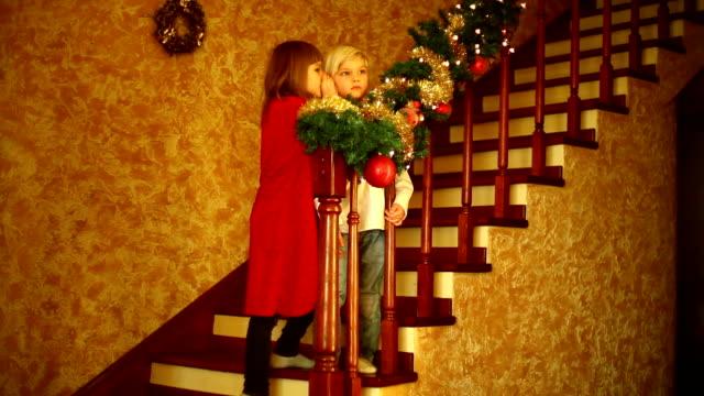 stockvideo's en b-roll-footage met waiting for santa claus part 2 - christmas tree