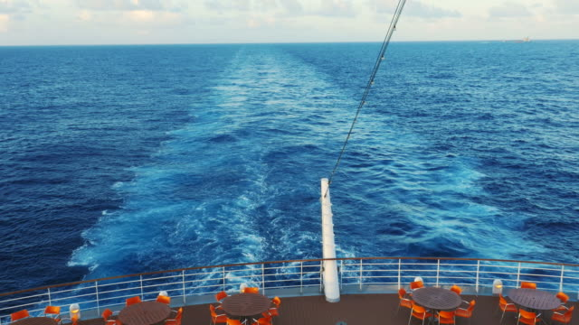 wake behind large ship - cruise video stock e b–roll