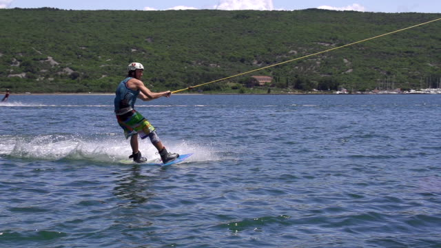 SLOW MOTION: Wakeboard jump video