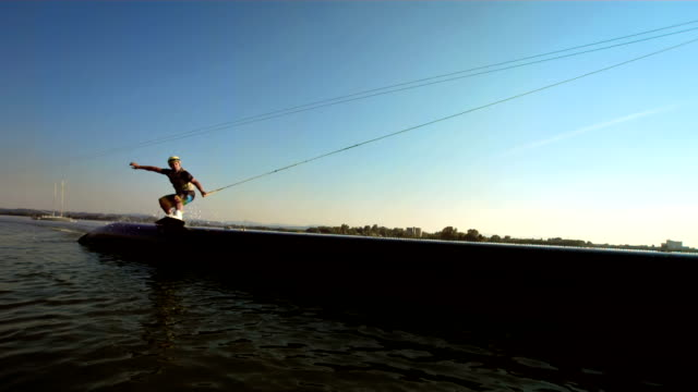 HD SLOW MOTION: Wakeboarder Grinding On The Pipe video