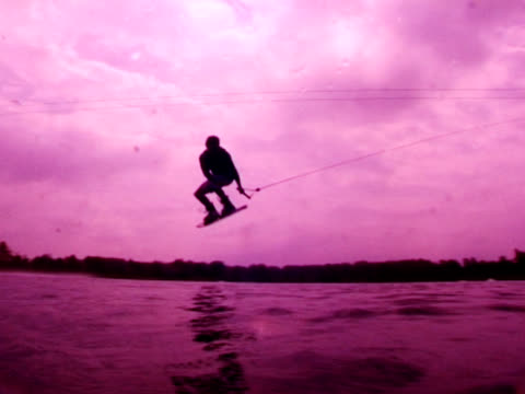 wakeboarder jumping video