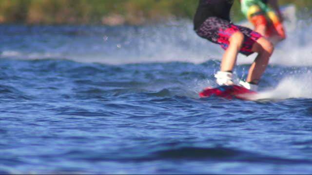 Wakeboarders On Lake video