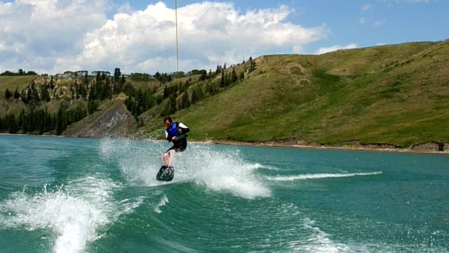 Wakeboarding Action video