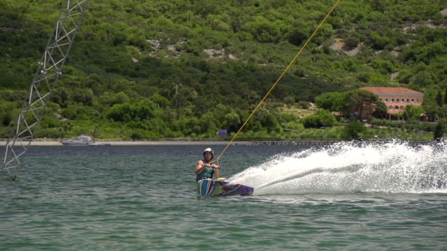 SLOW MOTION: Wakeboarding video