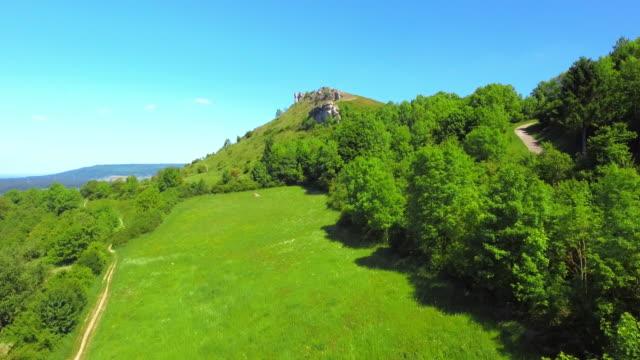 Walberla Peak On Ehrenbuerg Butte In The Franconian Jura video