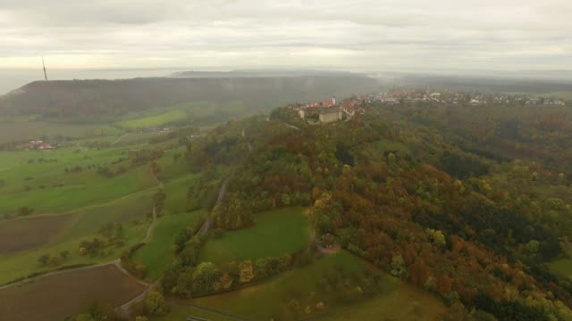 Waldenburg Castle from the air video
