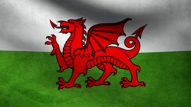 Wales flag. video