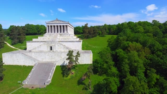 walhalla memorial in bavaria - neoclassical architecture stock videos & royalty-free footage
