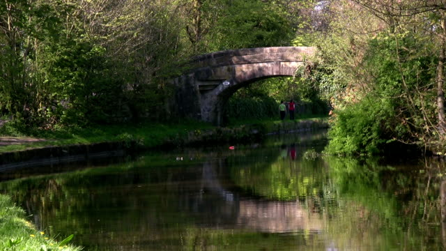 Walk along the canal towpath video