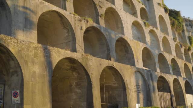 walk along the convent of the redemptorists of saint alphonsus liguori - video di tropea video stock e b–roll