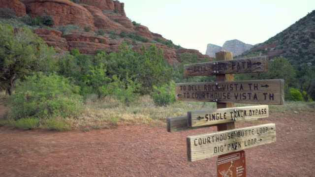 stockvideo's en b-roll-footage met loop rond de bordpaal - arizona highway signs