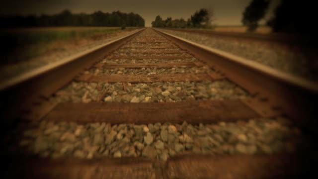 Walk down the Railroad Tracks Slow Motion HD video