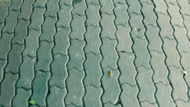 Walk on a brick block