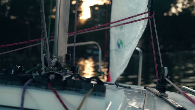 Walk on a sailboat on the high seas video