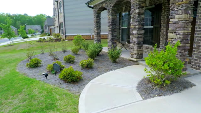 Walk to Residential Home Front Door Point of View video