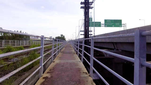 Walking along Old Pedestrian Bridge video