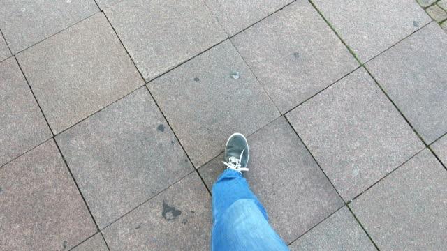 Walking around Man walking around, POV concept. tile stock videos & royalty-free footage
