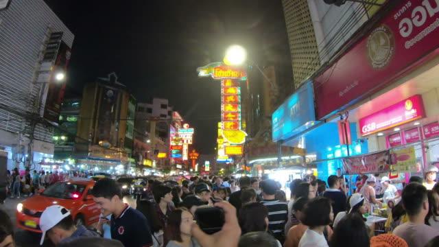 walking at China Town in thailand