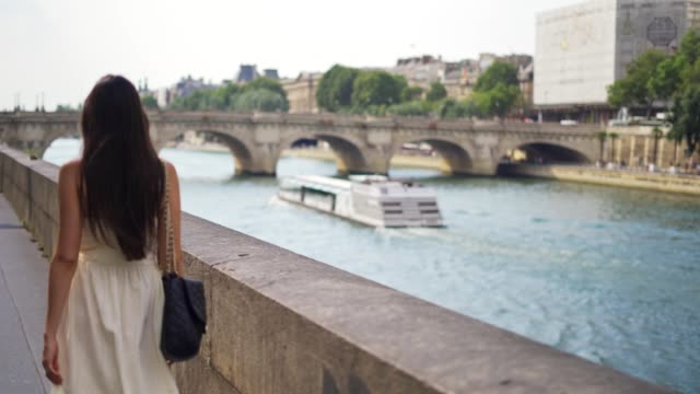 walking at the streets of paris - paris fashion stock videos and b-roll footage