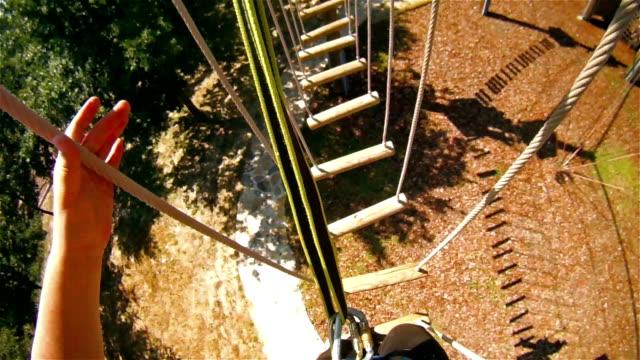 Walking at the zip line adventures video