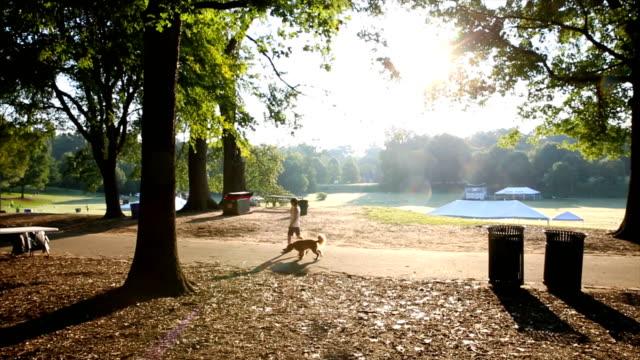 애틀랜타 피에몬트 공원 주변산책견 - 공원 스톡 비디오 및 b-롤 화면