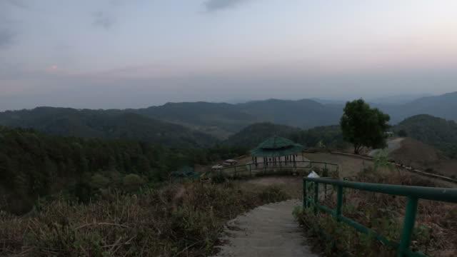 walking down from mountain
