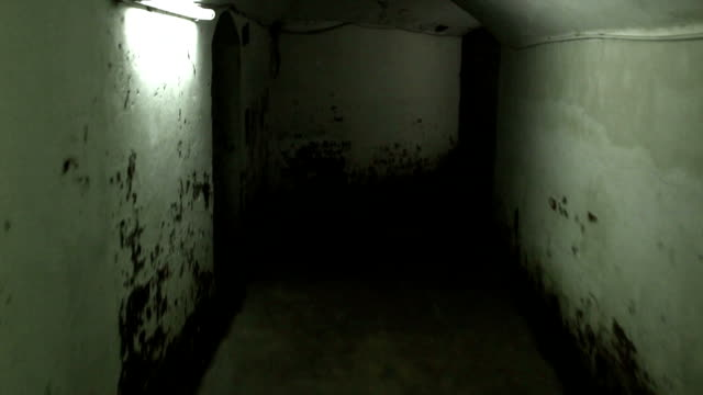 Walking in a mysterious underground tunnels video