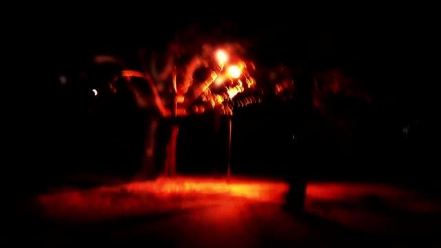 Walking in a strange dark park video