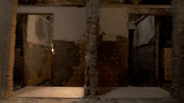 Walking in the abandoned building in Tskaltubo, Georgia video