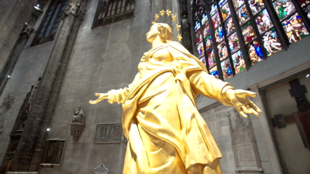 Walking inside the Milan Cathedral video