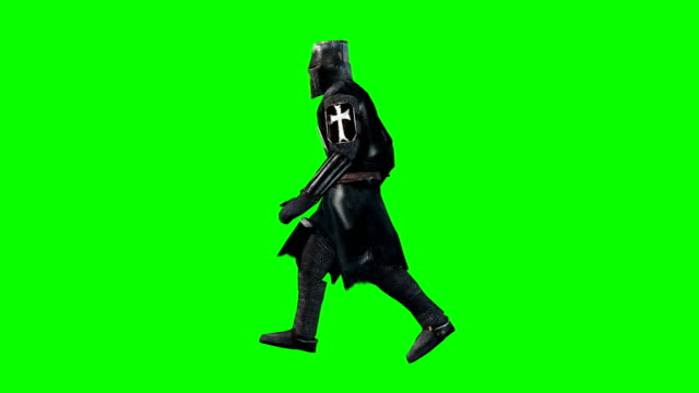 Walking Knight Green Screen (Loopable) video
