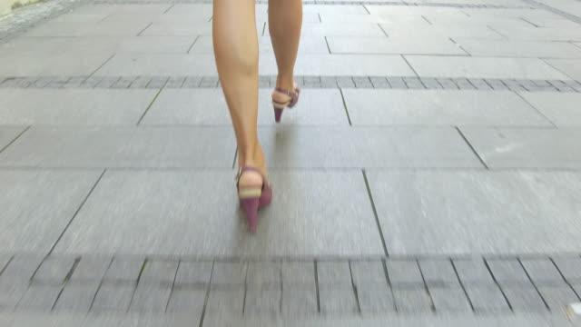 walking on city street - high heels stock videos & royalty-free footage