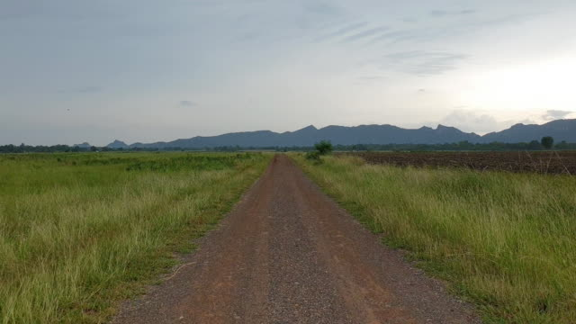 Walking on dirt road. Walking on dirt road in nation park. horizon over land stock videos & royalty-free footage